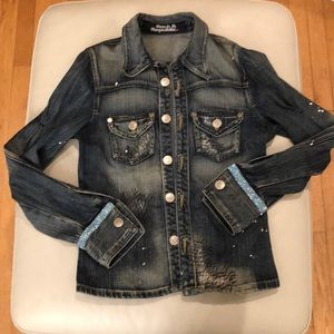 Rock & Republic small jean jacket with bling!